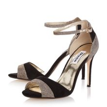 Dune Meena mixed material high heel sandals