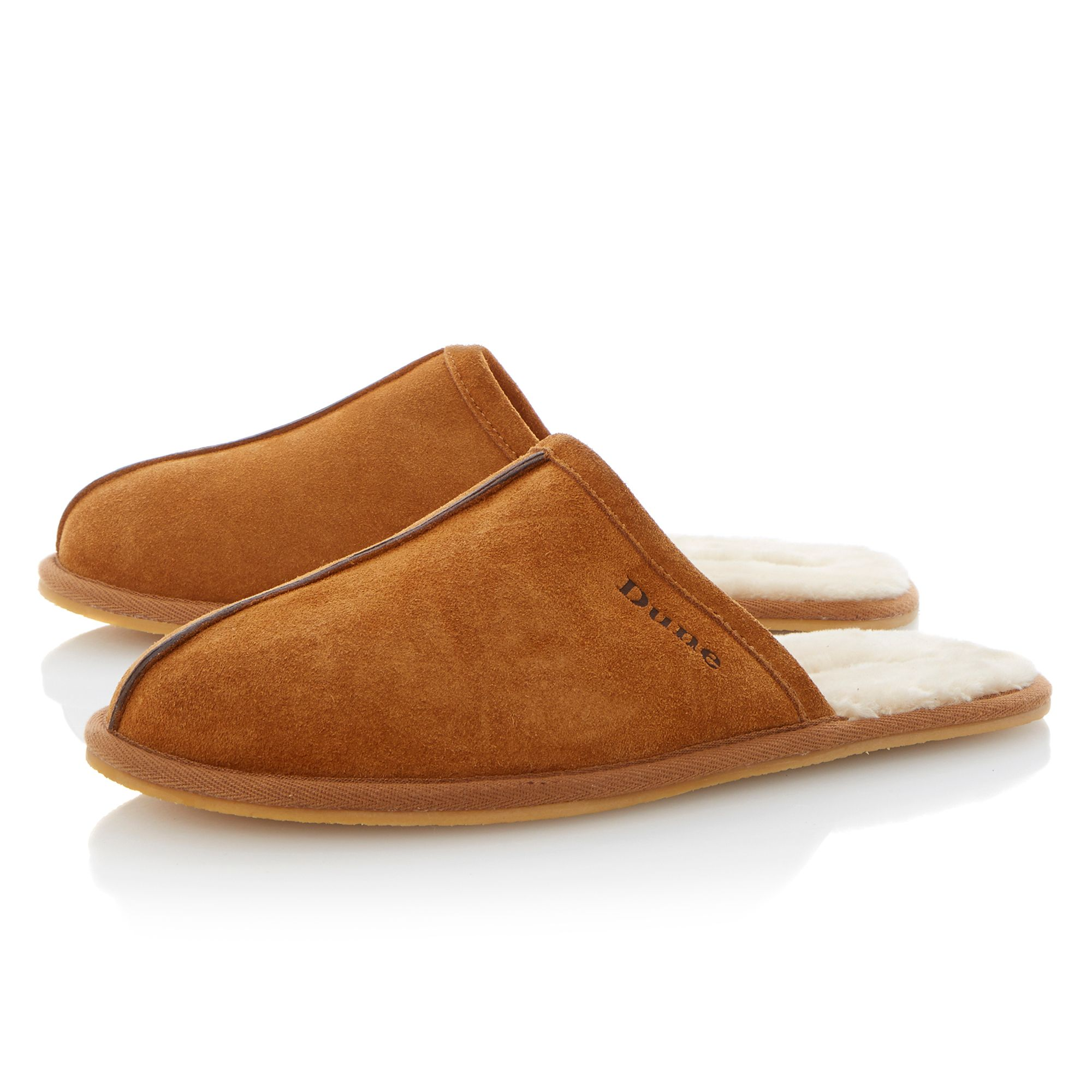 Flintoff faux fur-lined mule slipper