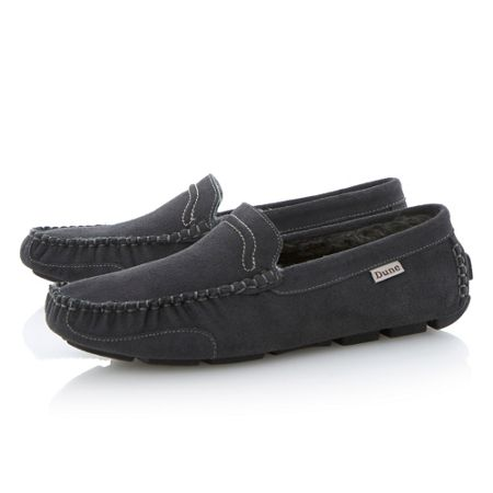 Dune Freddie Faux Fur Lined Slip On Casual Slippers