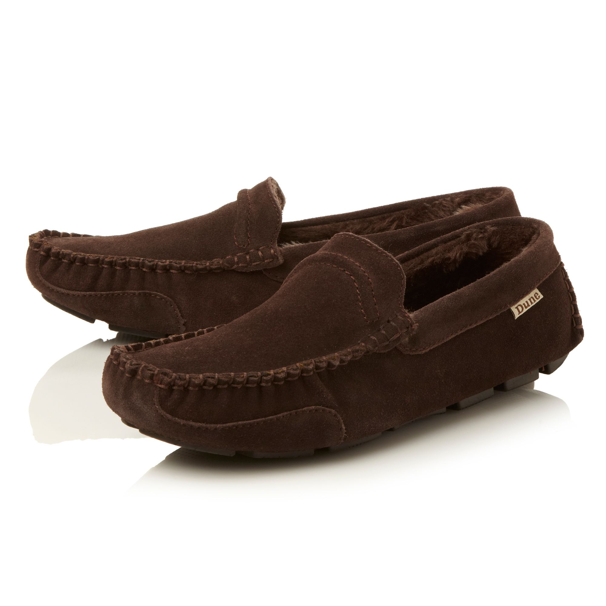 Fur lined driver slipper