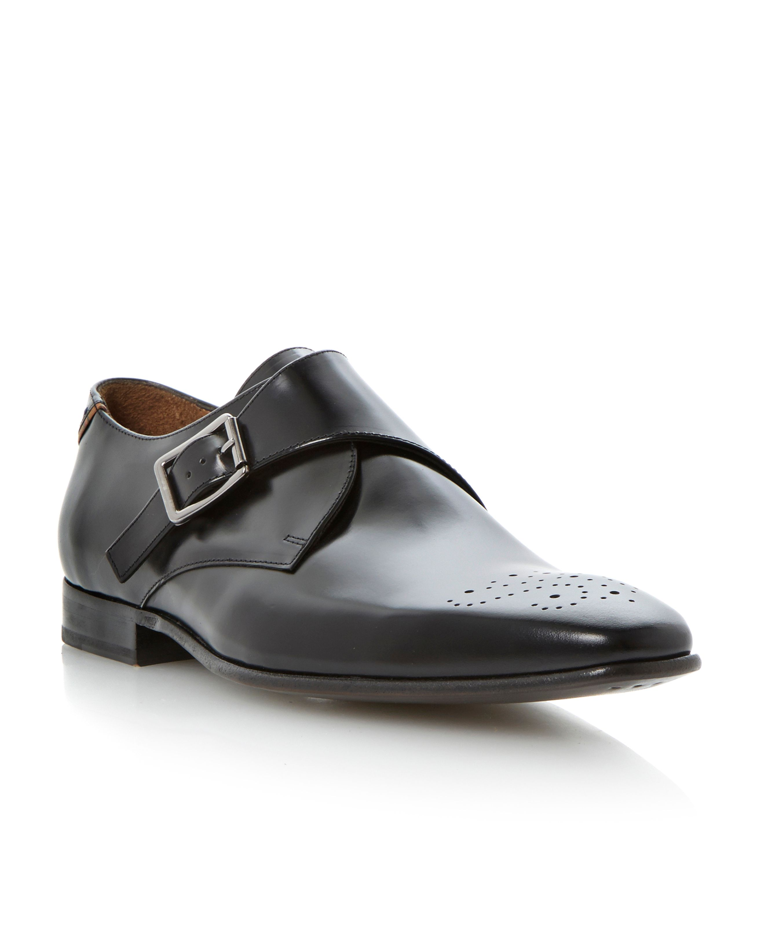Wren buckle brogue detail monk shoes
