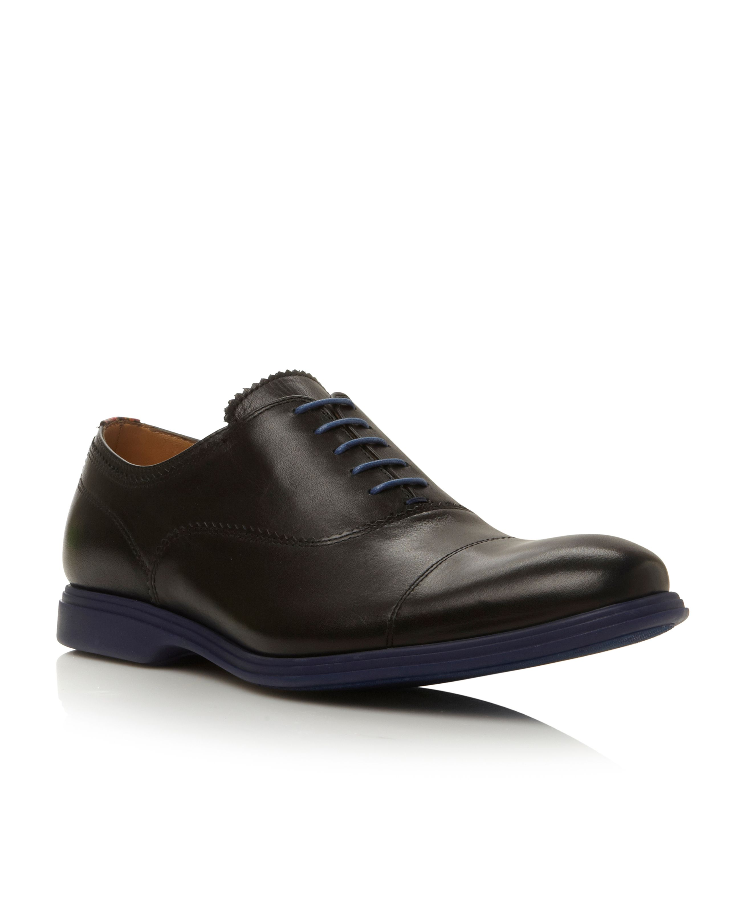 Seymour lace up contrast sole oxford shoes