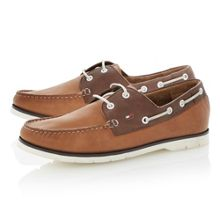 Tommy Hilfiger Cain 3a contrast facing lace up boat shoes
