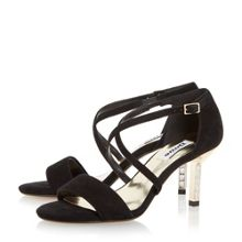 Dune Mindee diamante mid heel sandals
