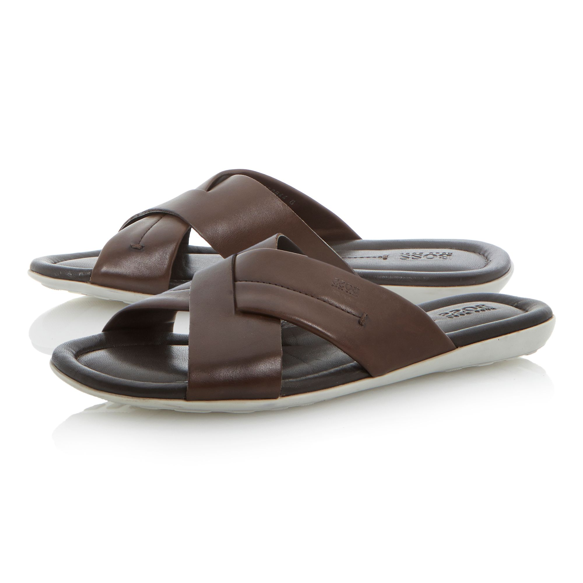 Palman leather crossover sandals