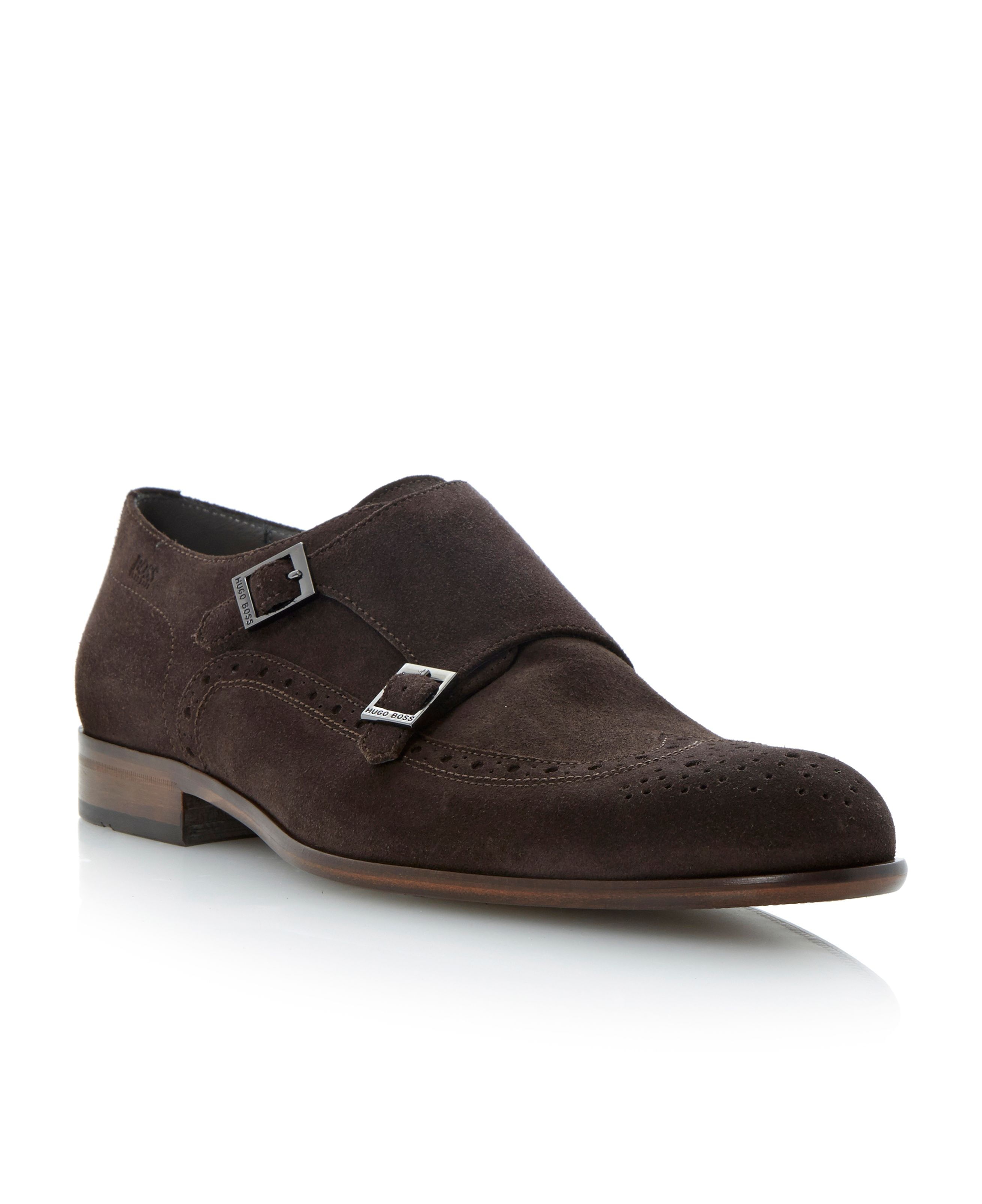 Brostios buckle monk shoes