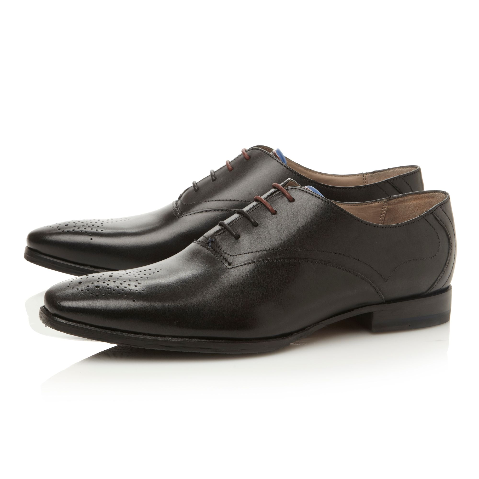 Belair brogue toe oxford shoes