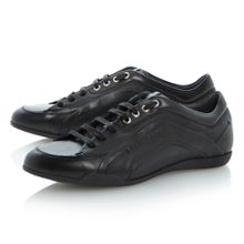 Hugo Boss Biarton lace up sleek leather sneakers