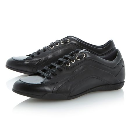 Biarton lace up sleek leather sneakers