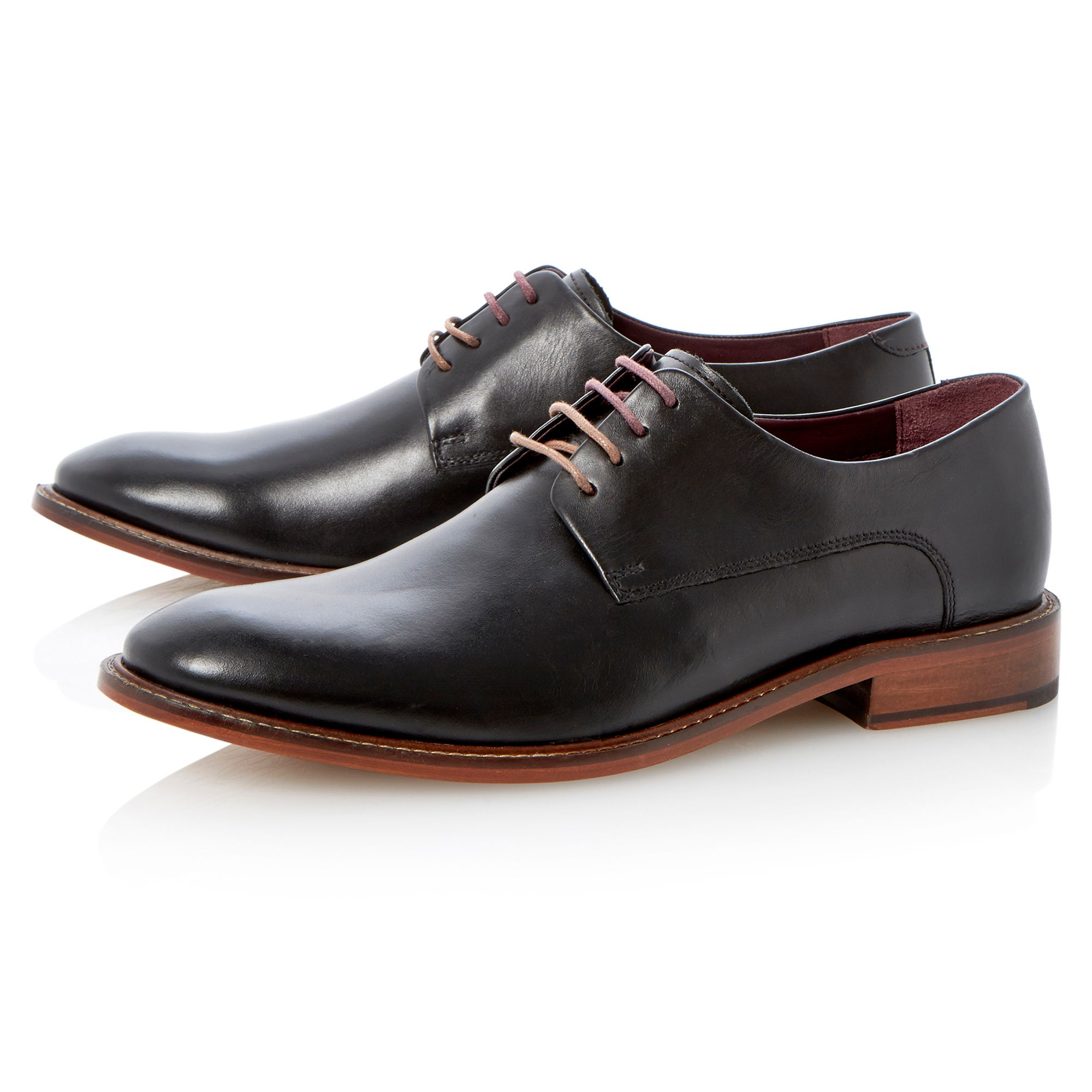 Irron 2 lace up round toe eyelet derby shoes