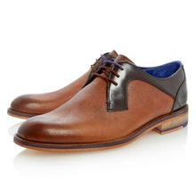 Fussel lace up contrast facing gibson shoes