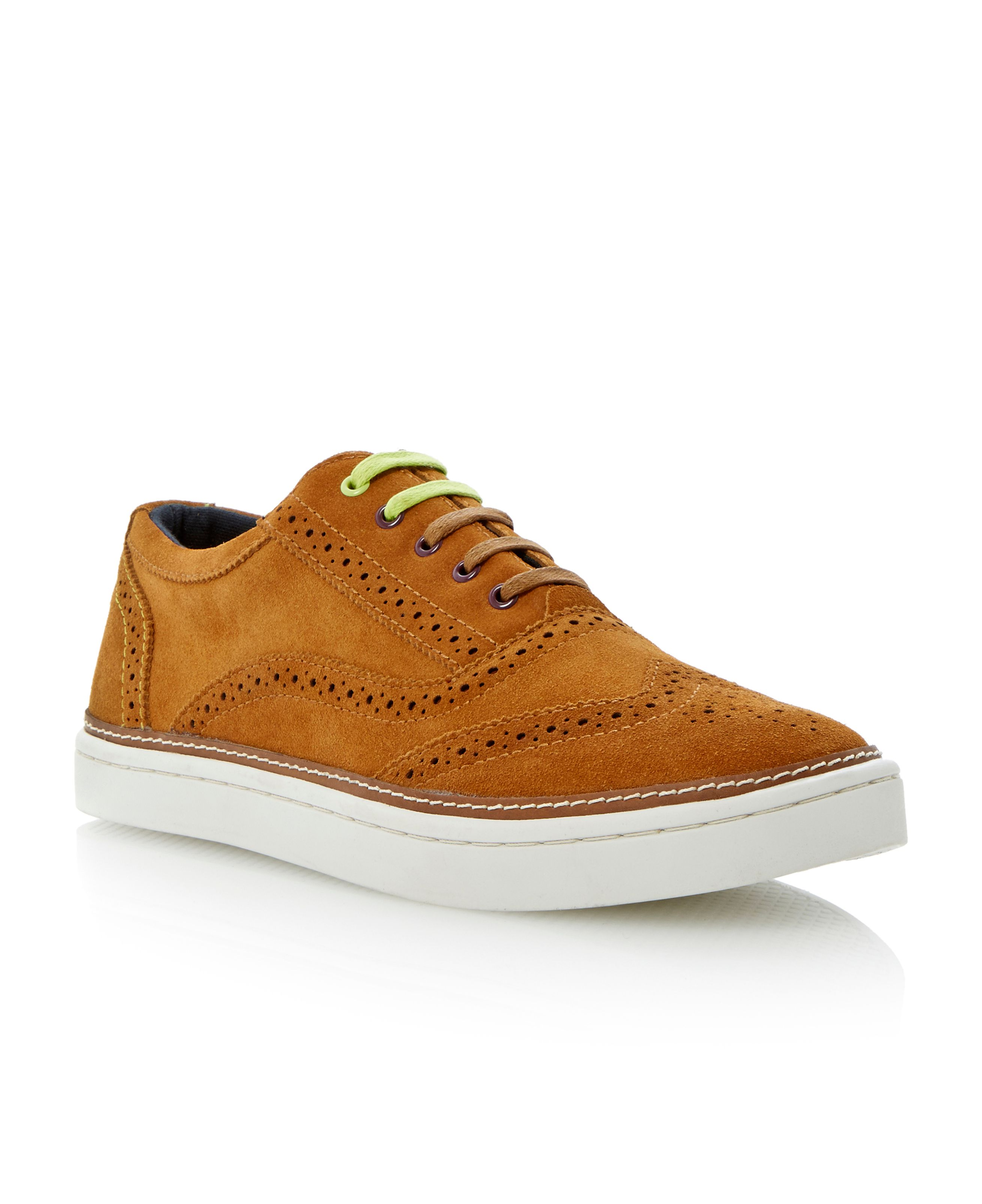 Hapra 2 lace up brogue cup sole trainers