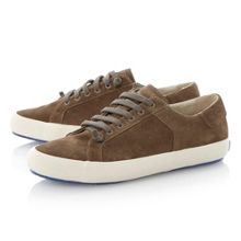 Clay lace up cup sole trainers