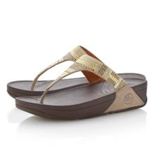 Chada aztek leather embellished toe post sandals
