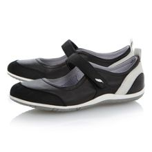 Vega ball velcro leather flat round sports shoes