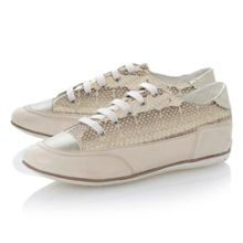 New moena lace up leather flat round sports shoes