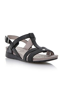 Formosa leather round toe buckle sandals