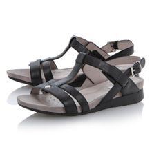 Geox Formosa leather round toe buckle sandals