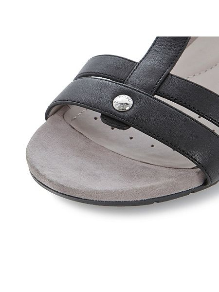 Geox Formosa Leather Round Toe Buckle Sandals House Of