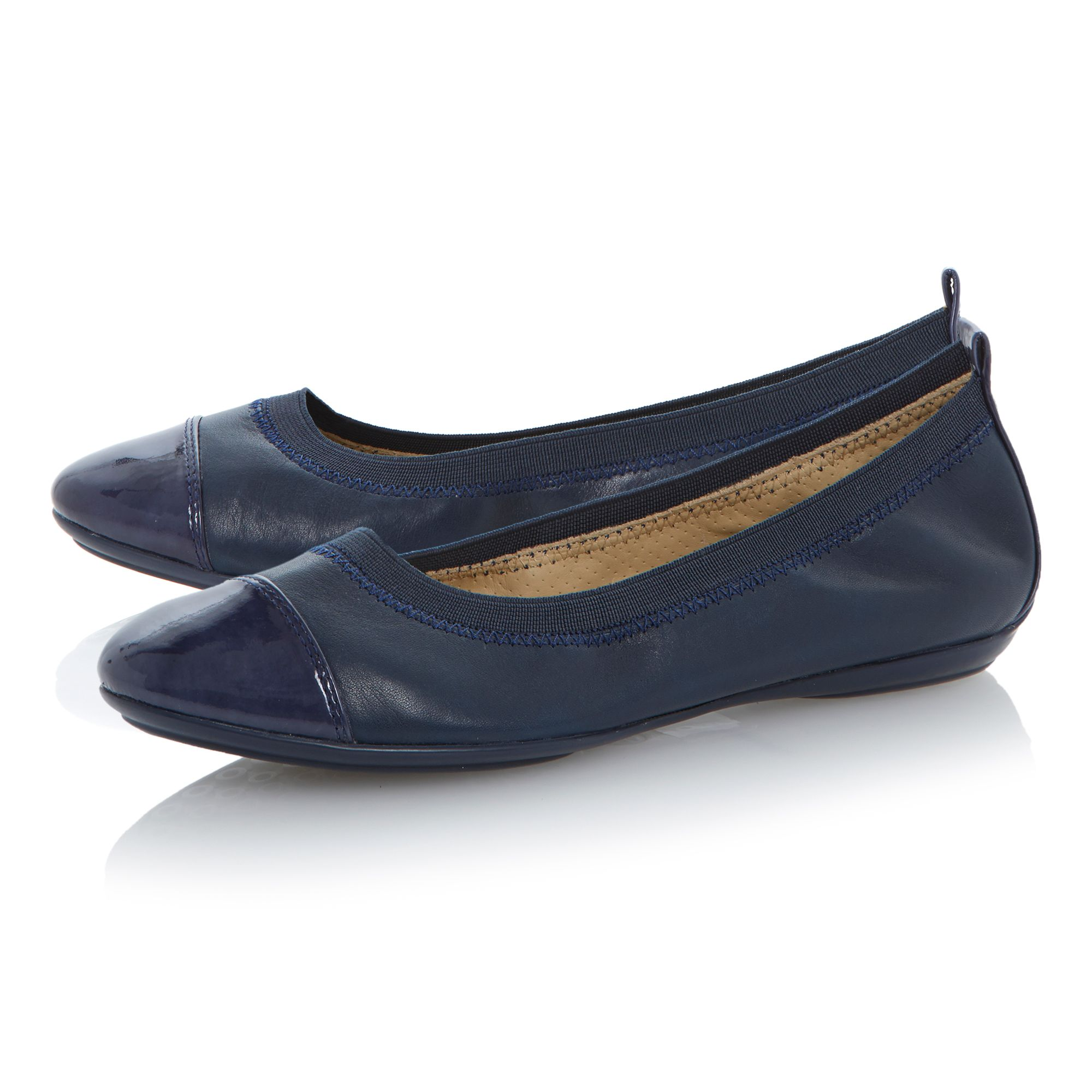 Charlene leather flat round toe ballerina shoes