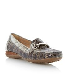 Geox Donna euro square casual moccasin shoes