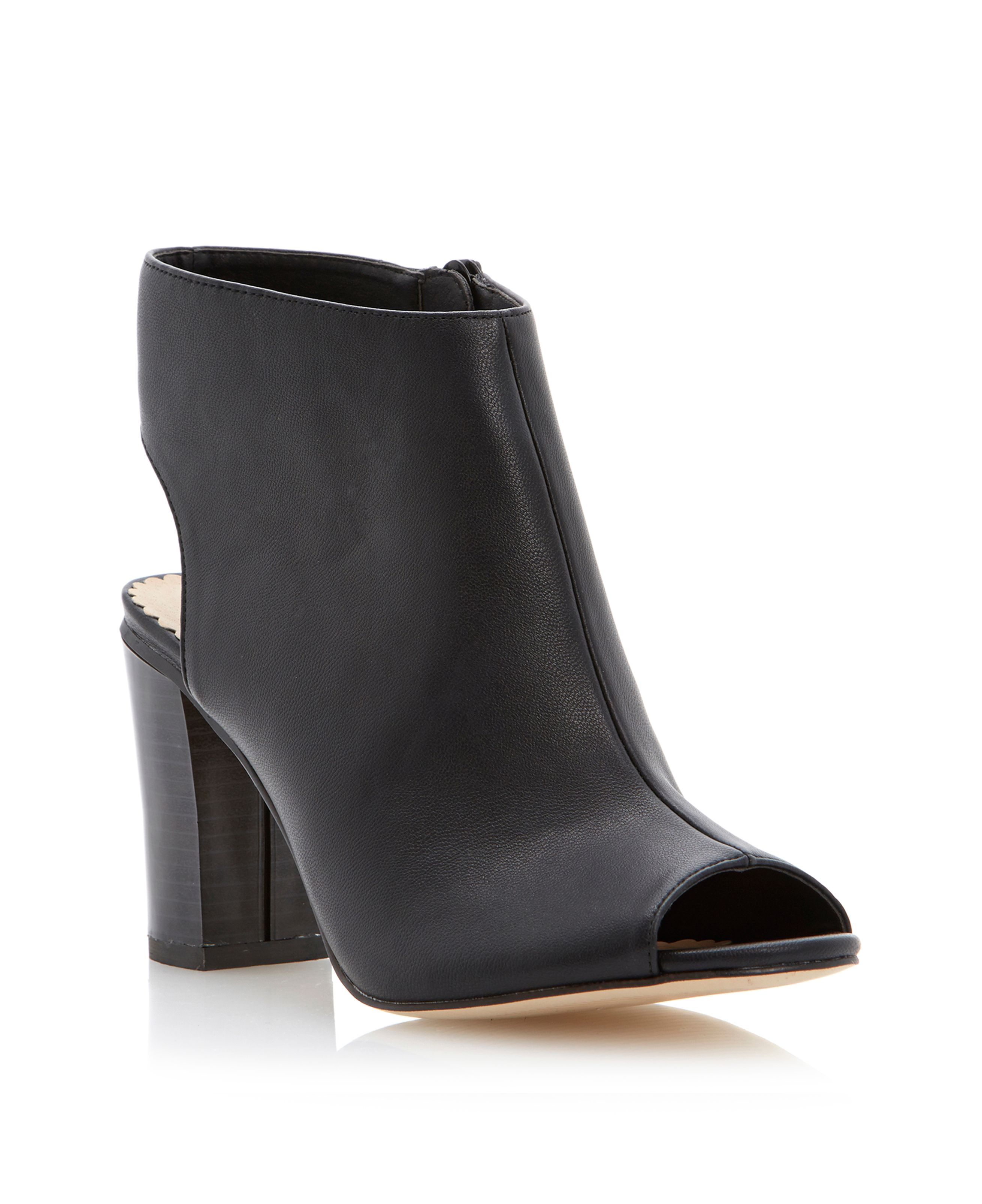 Neyo peep toe coverage boots