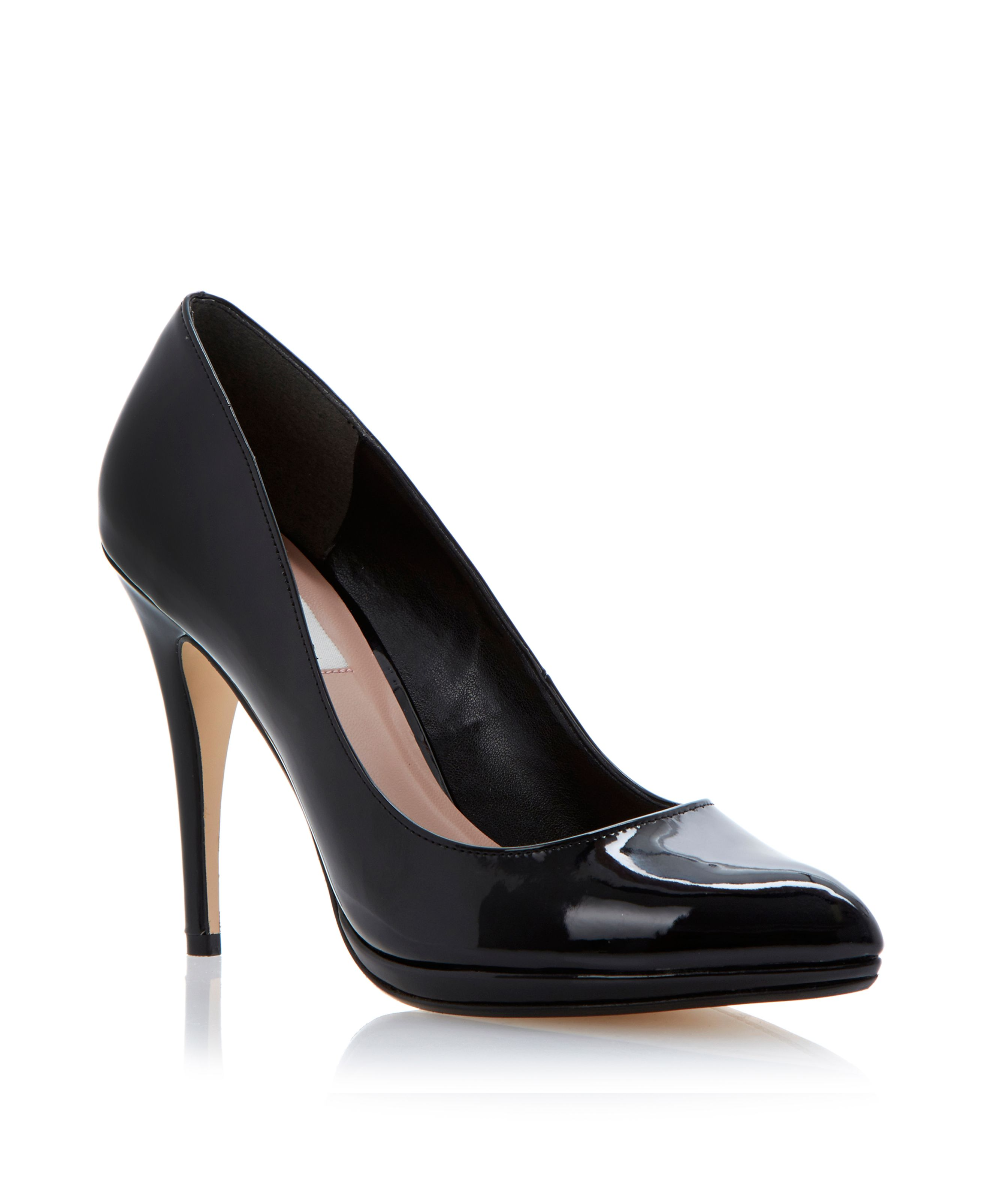 Acutey slim platform pointed court shoes