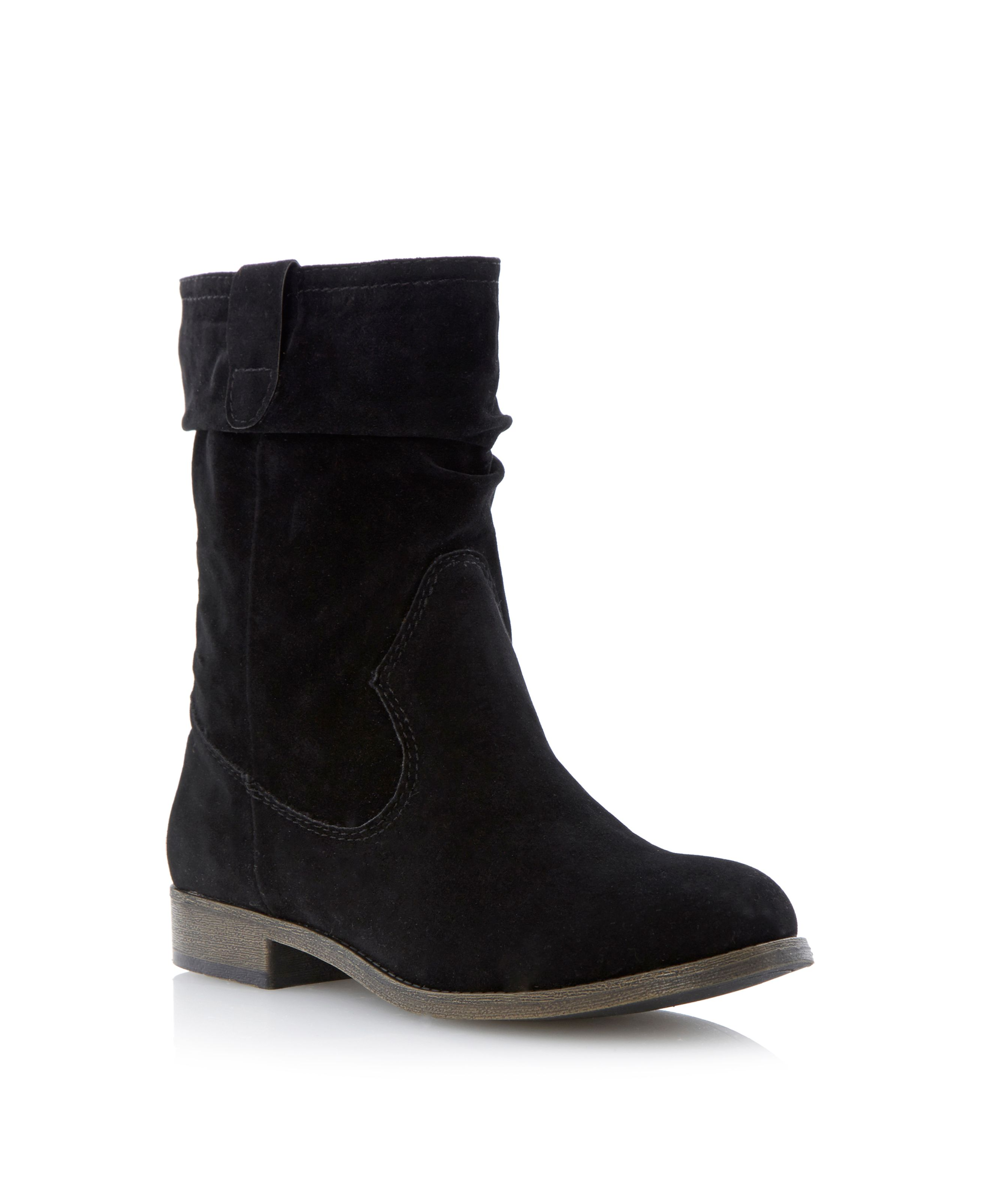 Rilee ruched calf boots