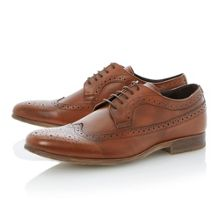 Ambient round toe leather lace up brogue