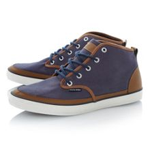 Jj harvard lace up contrast trim chukka boots