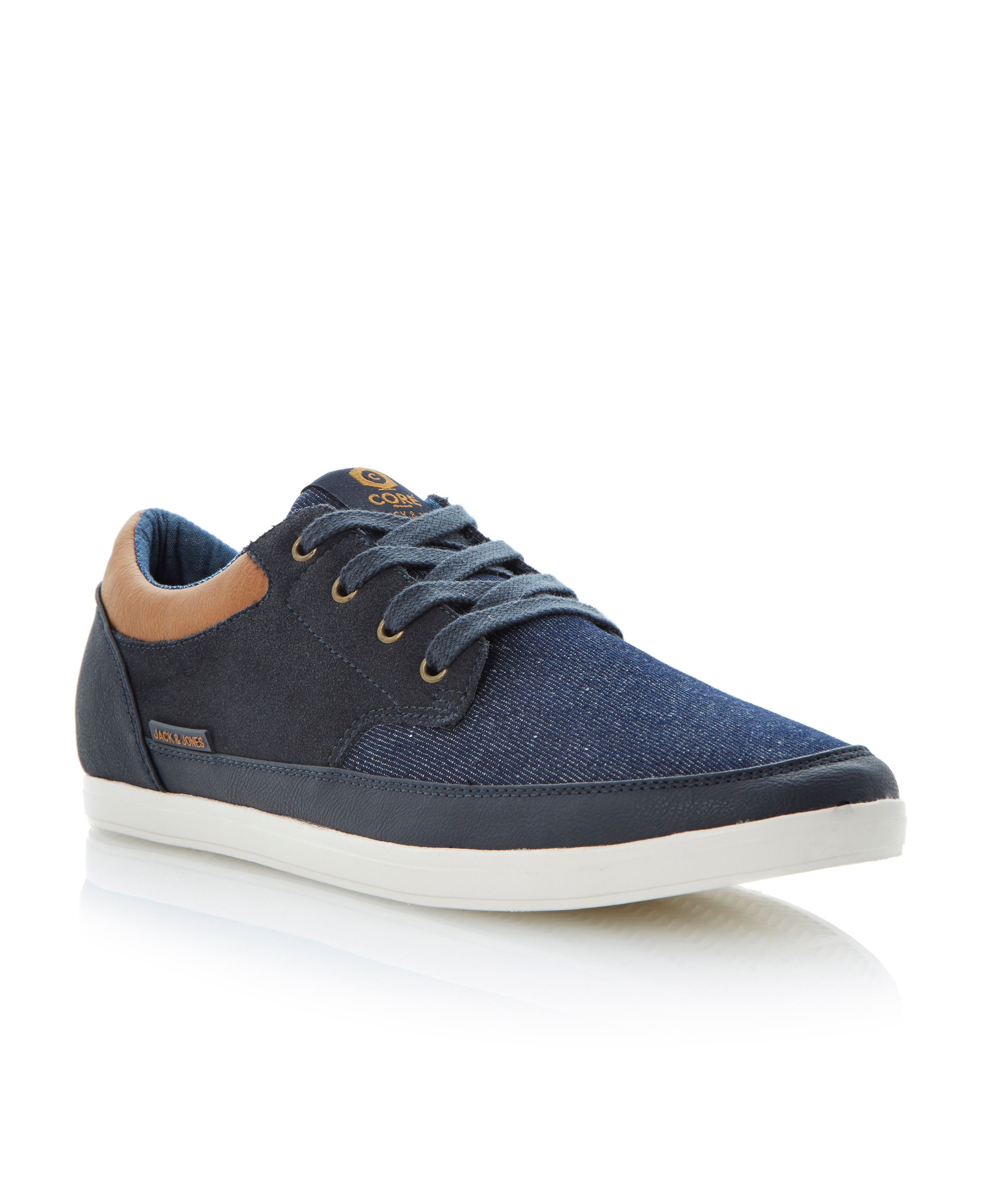 Jj brad core lace up multi tone trainers