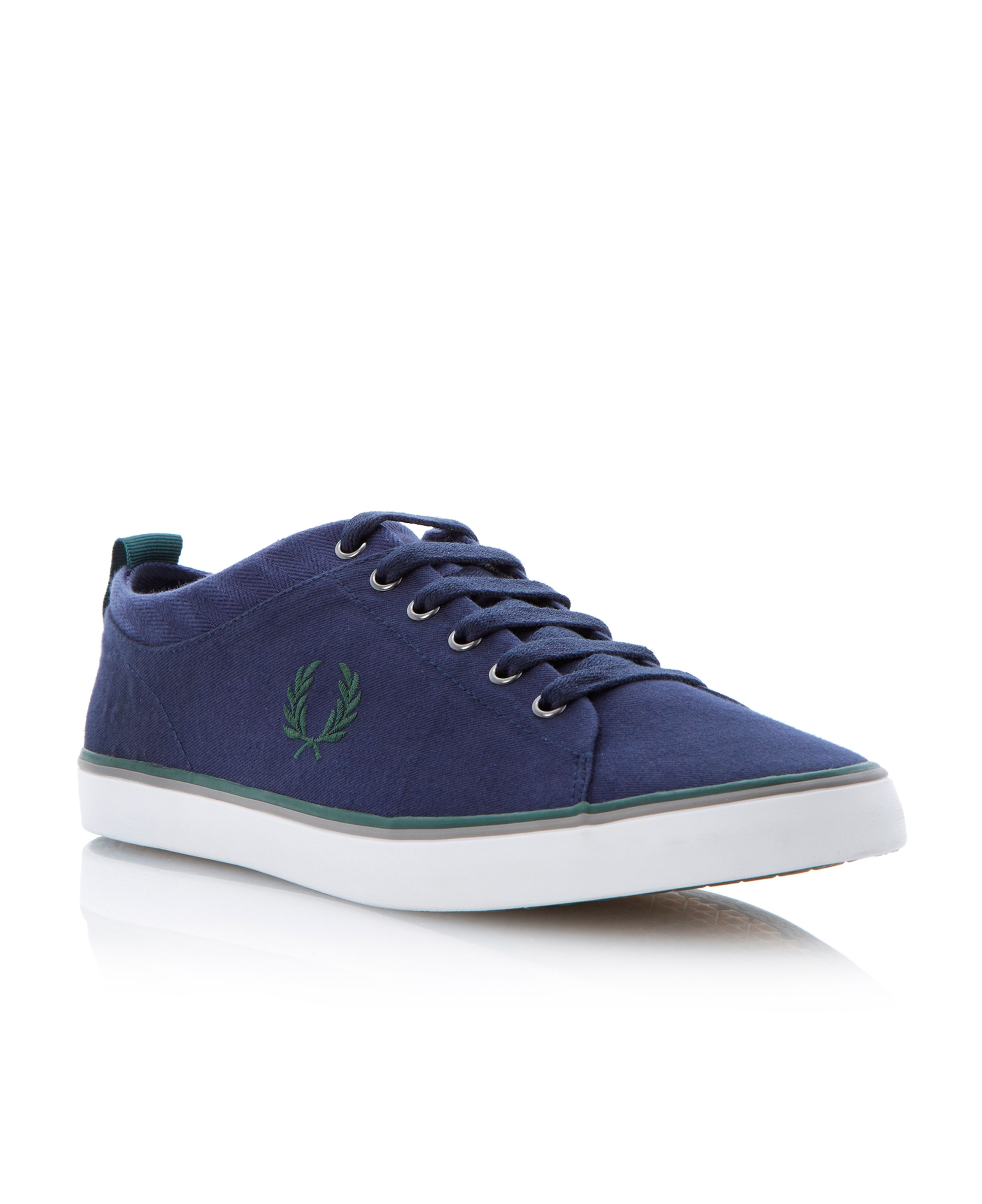 Hallam twill lace up authentic logo trainers