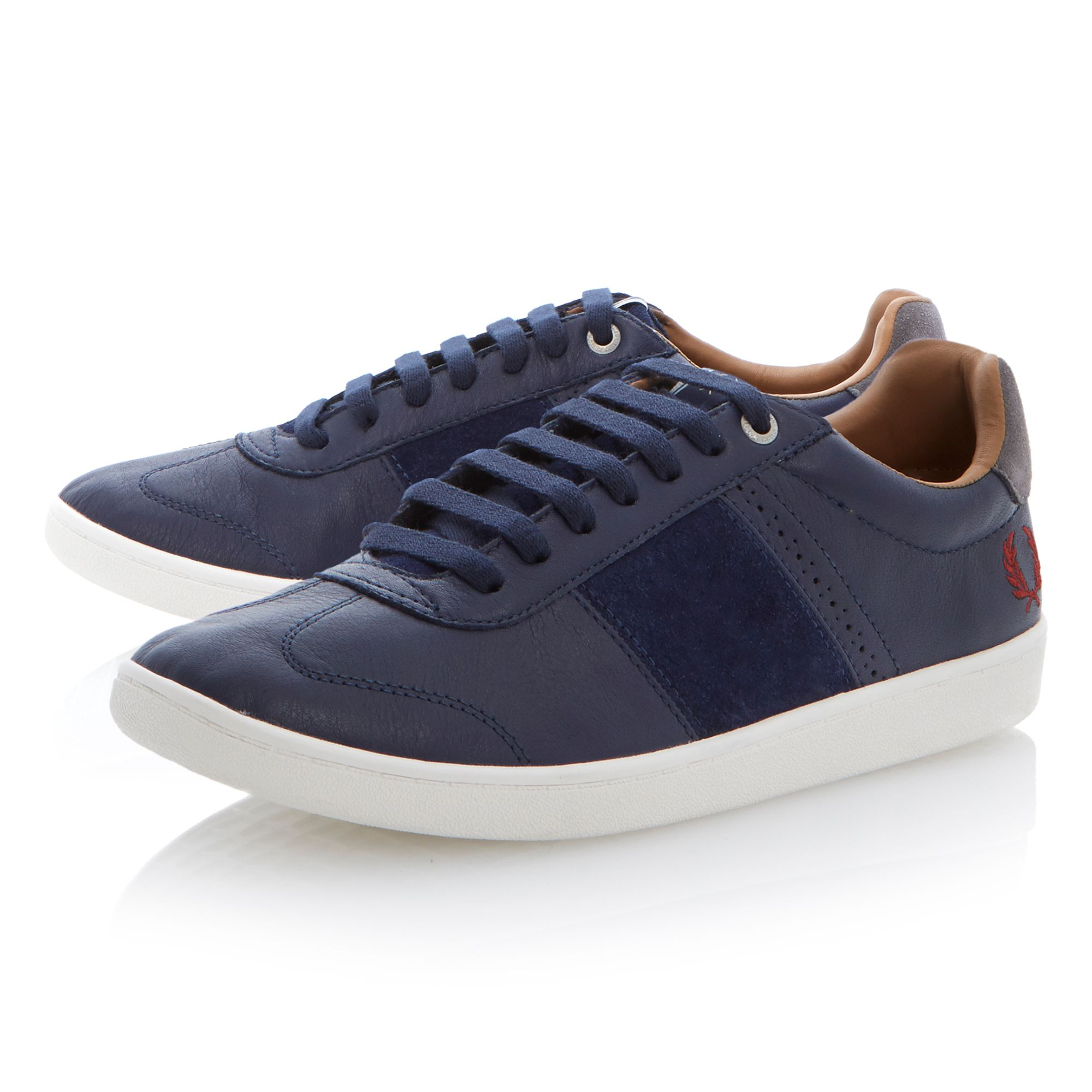 Sebright lace up leather trainers