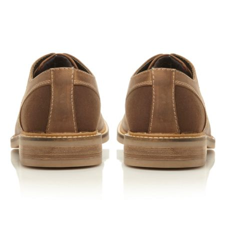 Barbour Cottam lace up gibson shoes