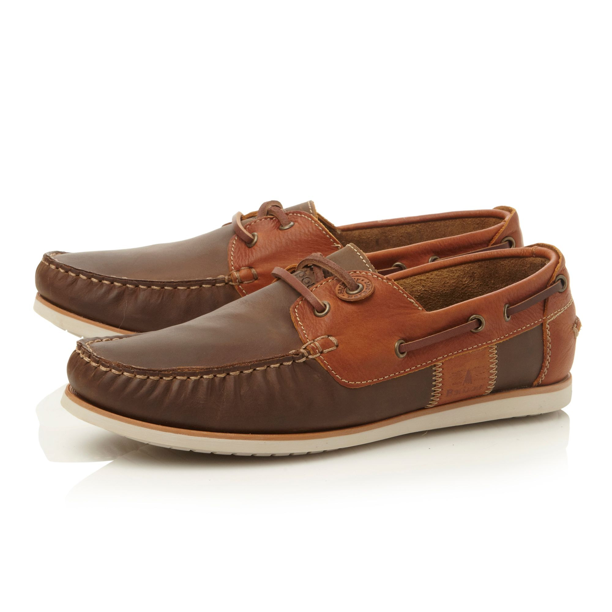 Flinders lace up contrast eyelet boat shoes