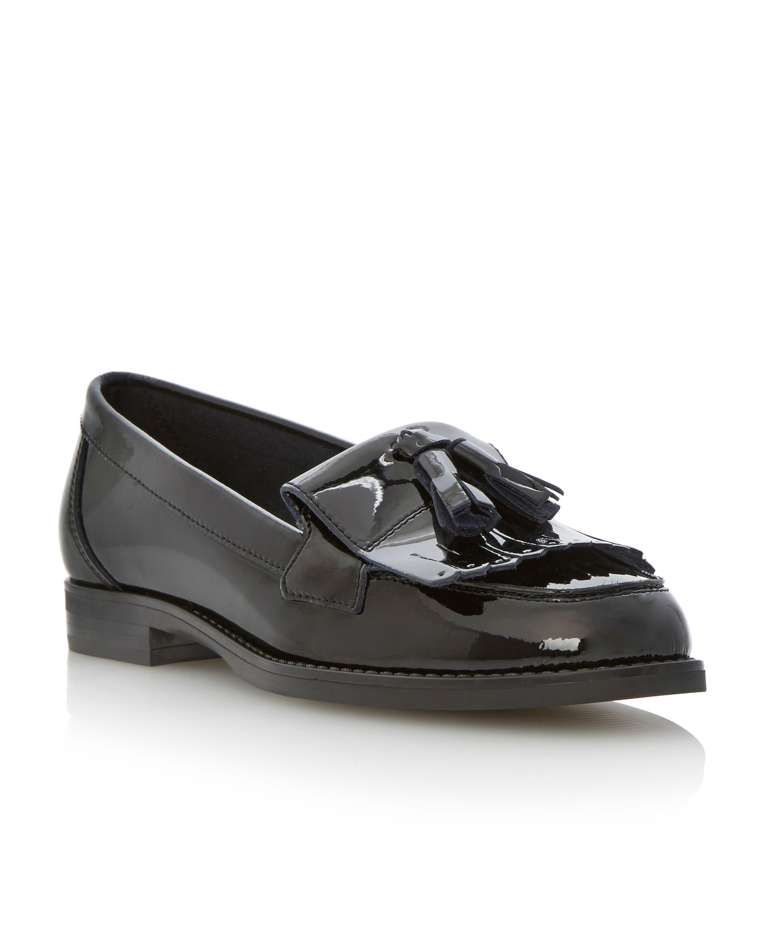 Lennon tassel patent loafer shoes