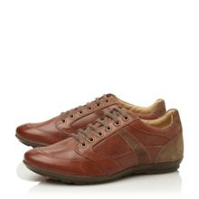 Symbol u32a5a lace up leather trainers