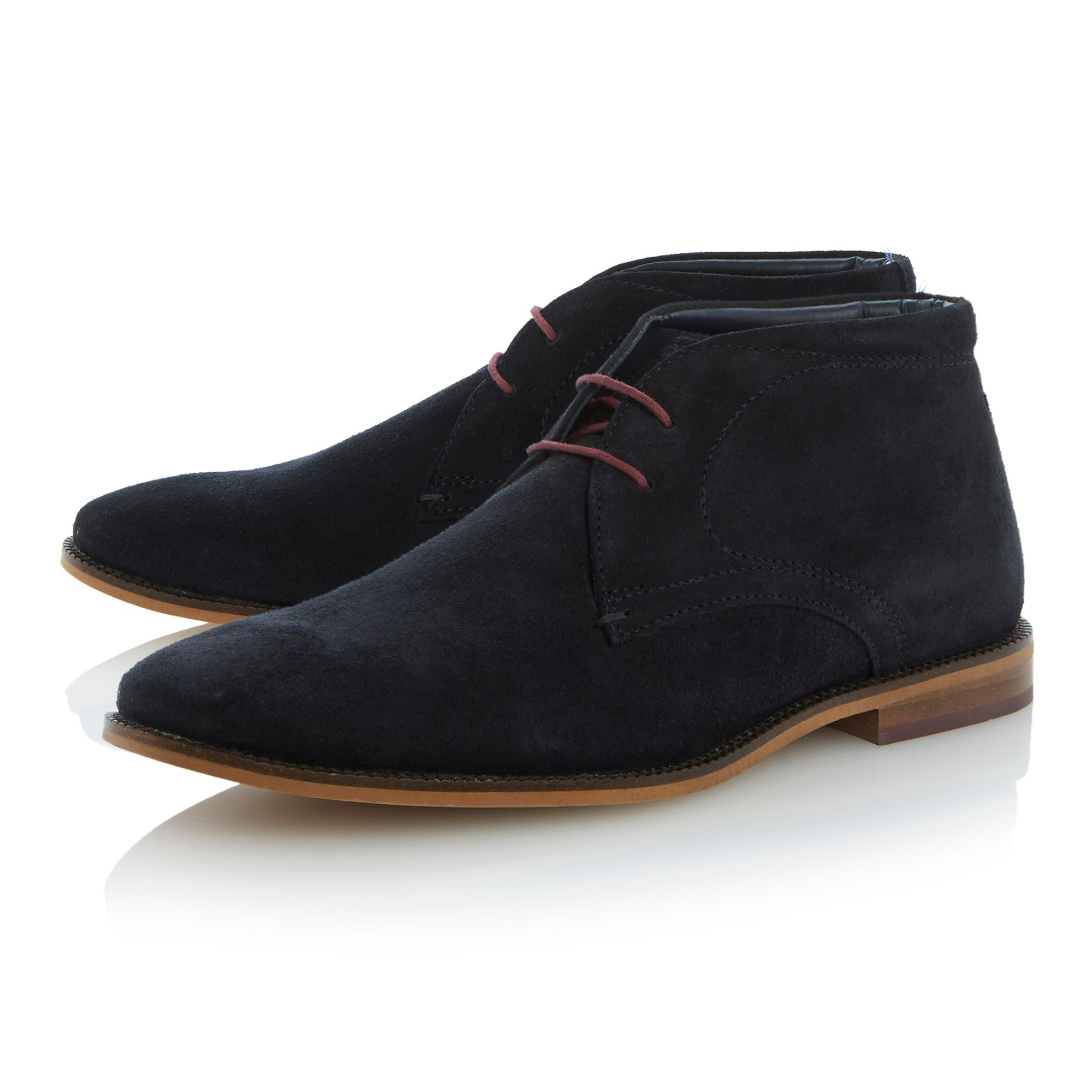 Clark lace up smart suede desert boots