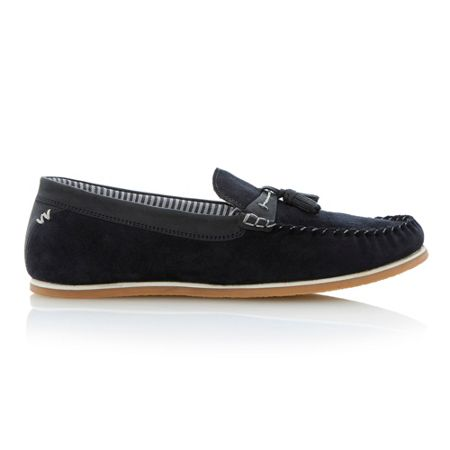 Linea Benno whipstitch mocc loafers
