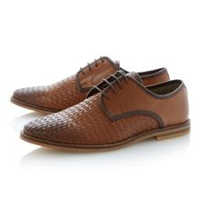 Barter lace up woven casual shoes