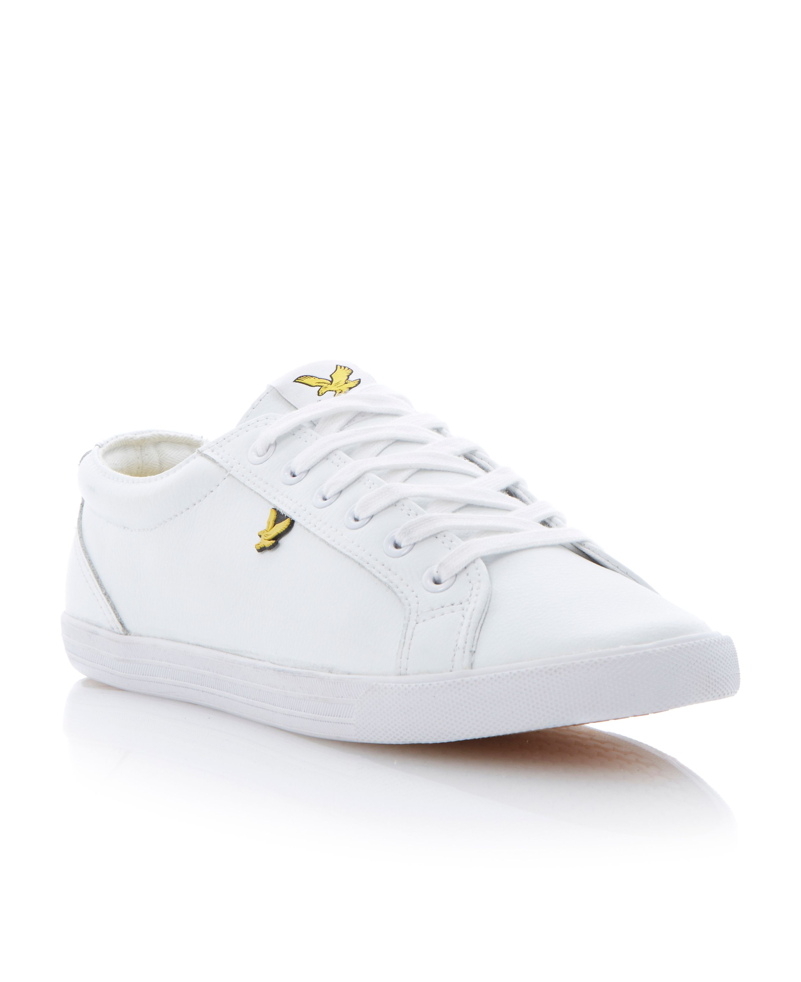 Halket leather lace up plimsolls