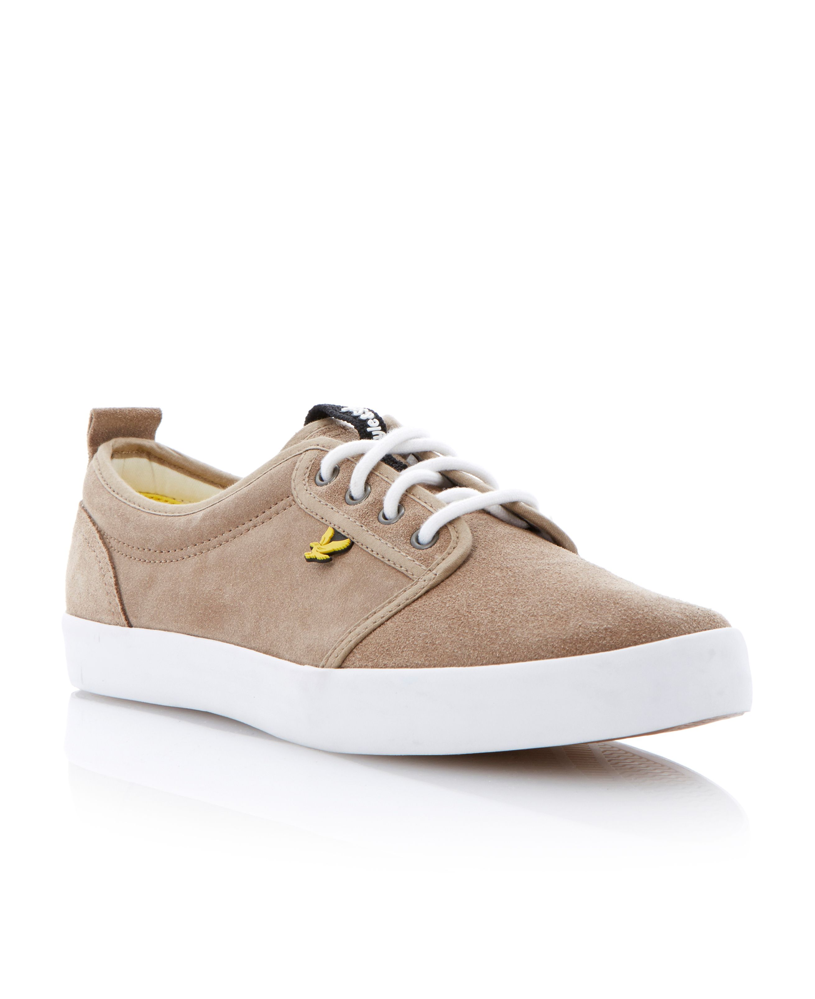 Caol suede lace up derby plimsolls
