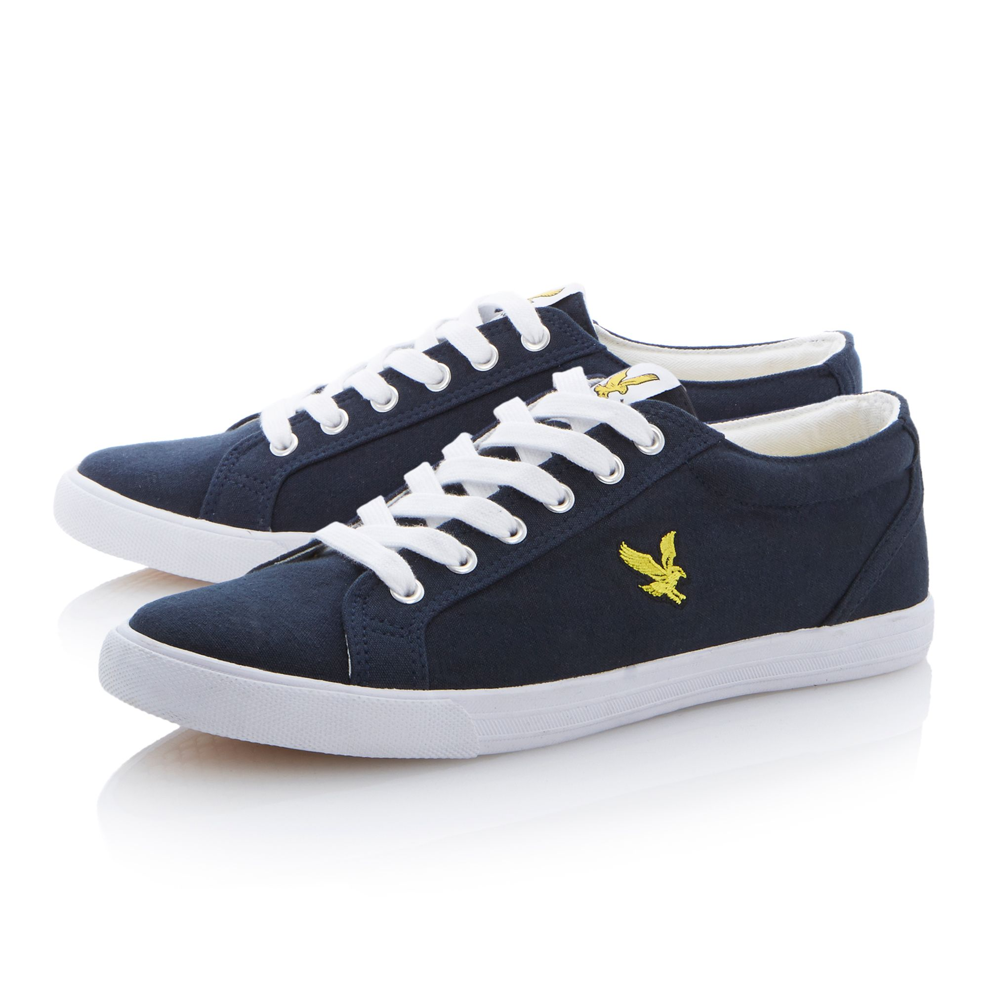 Halket canvas lace up plimsolls