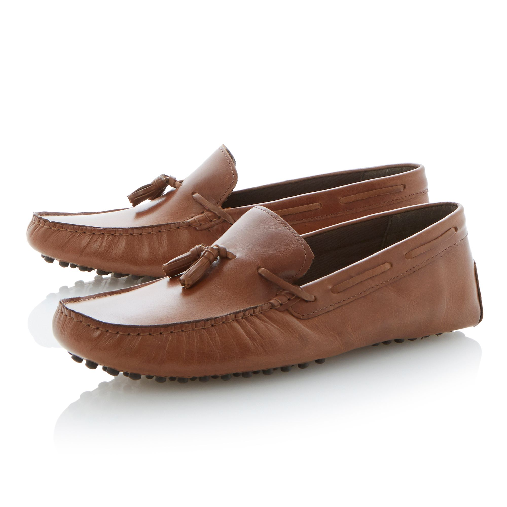 Barlow lace up tassel moccasin loafers