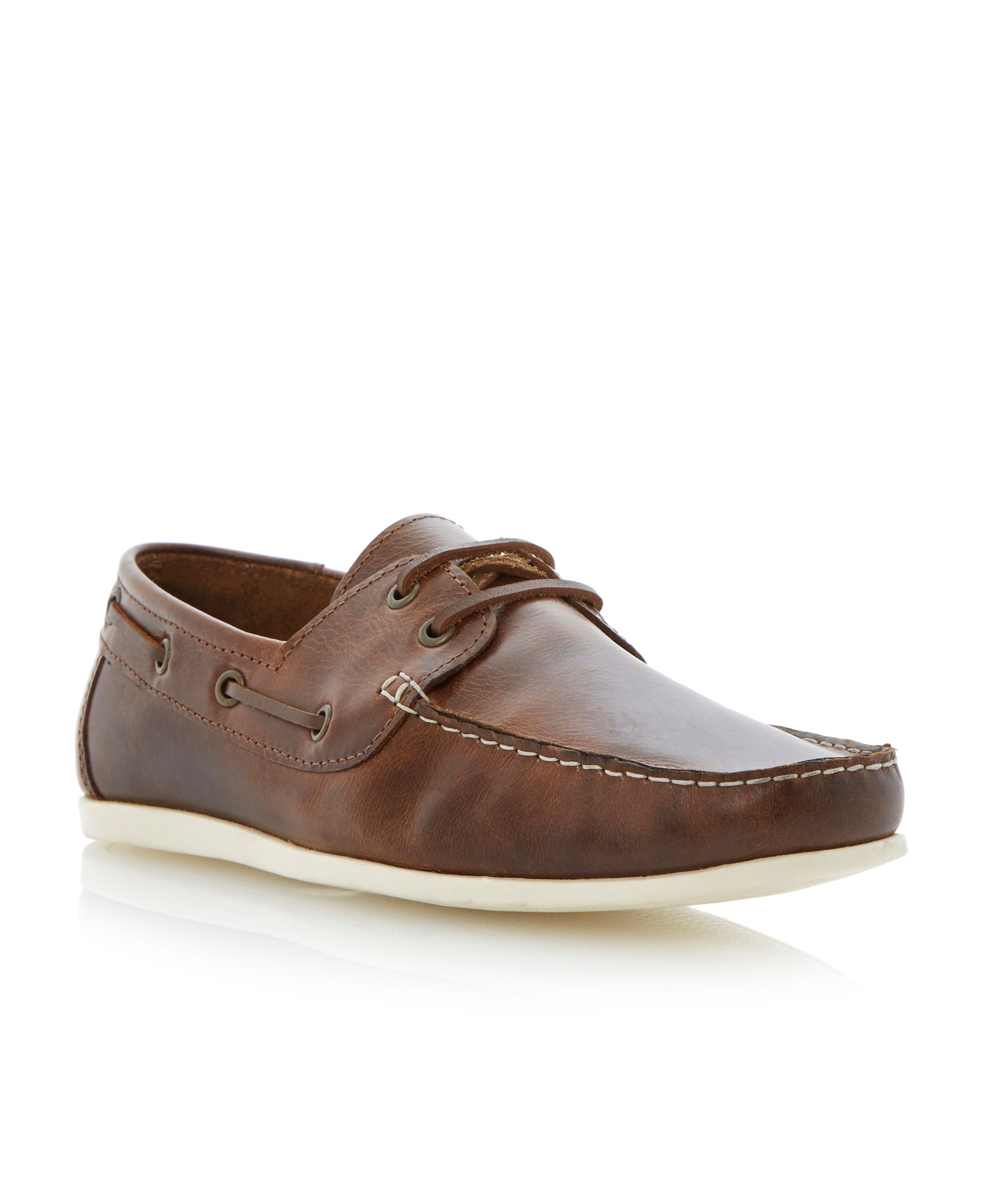 Baltic lace up boat shoes