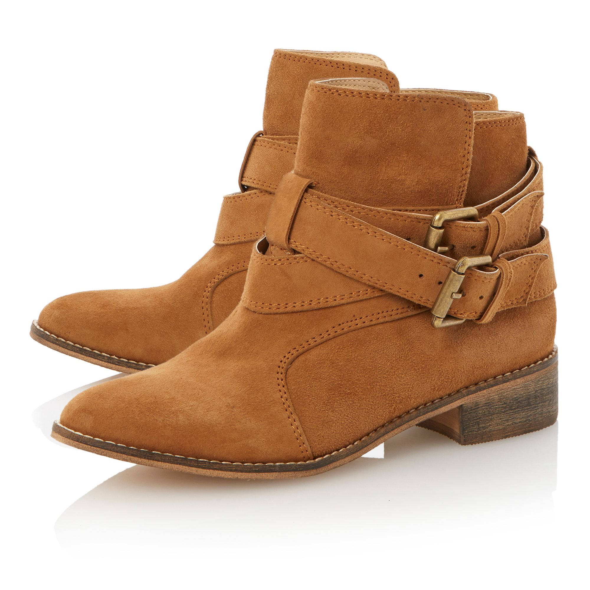 Pallermo double buckle ankle boots