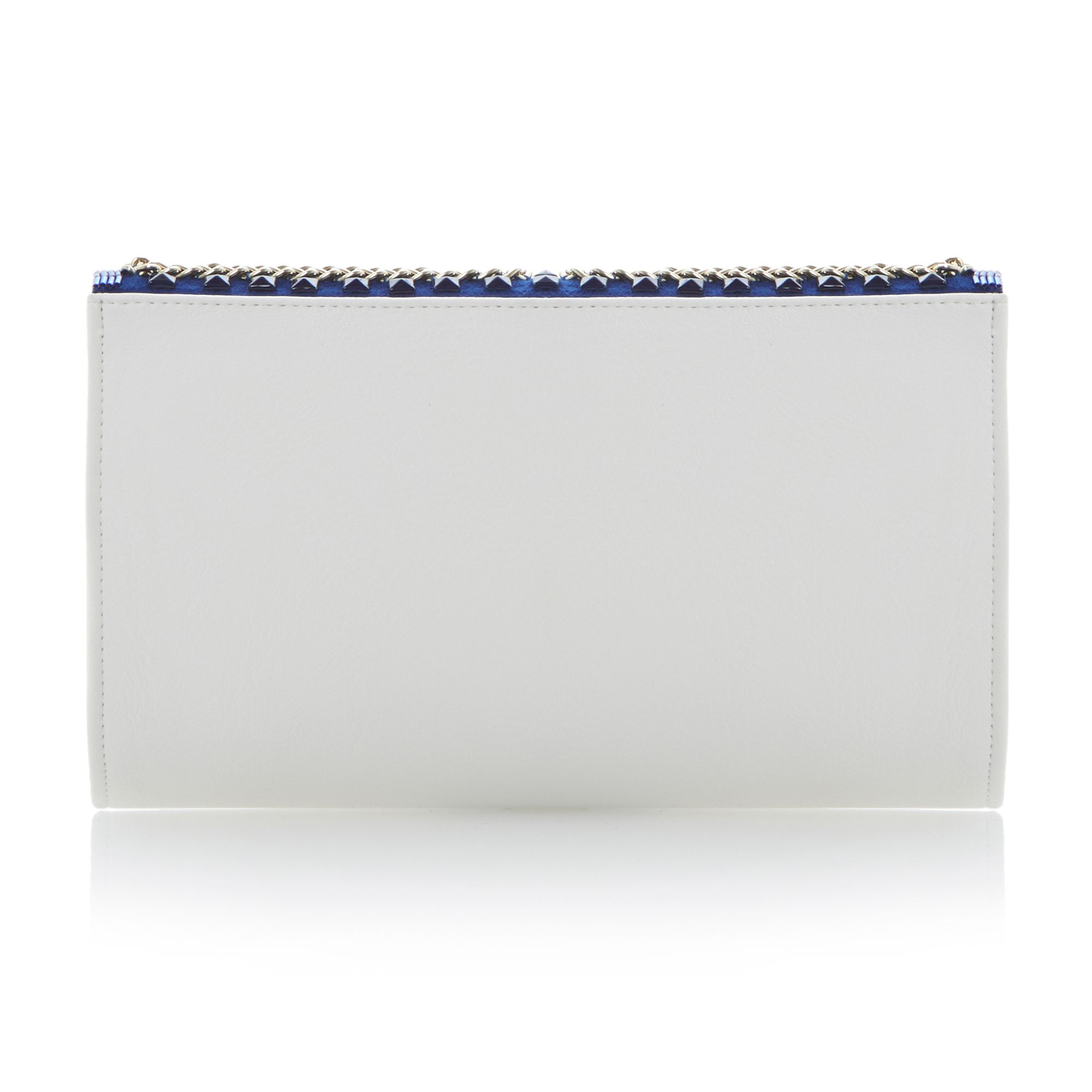 Eaded stud chain beaded clutch bag