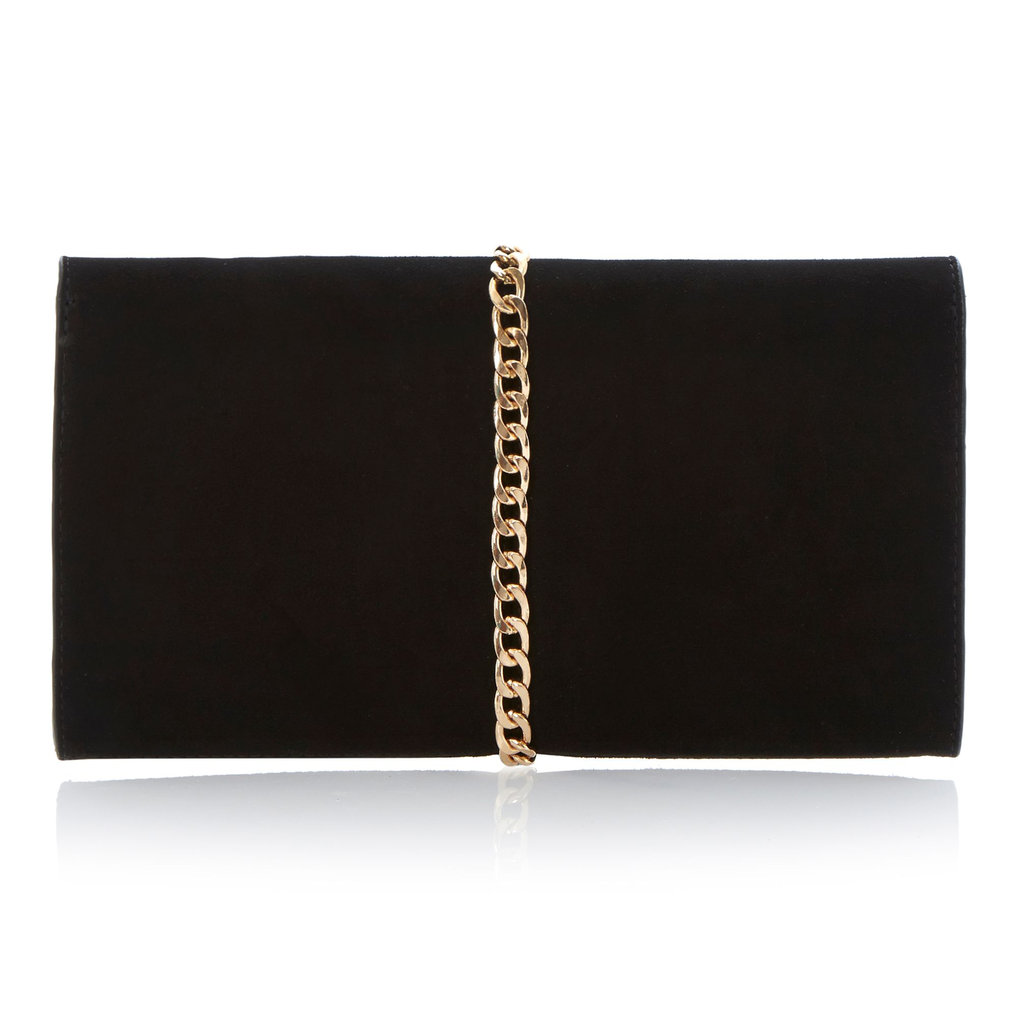 Edgie chain and tassel trim clutch bag