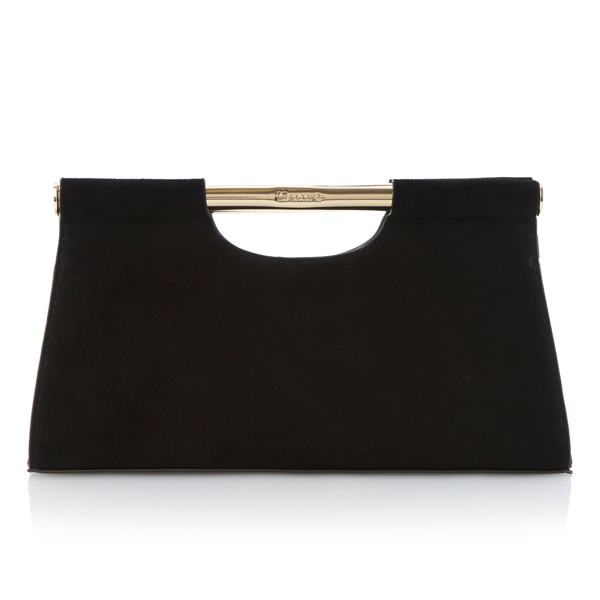 Envie bar top suede clutch bag