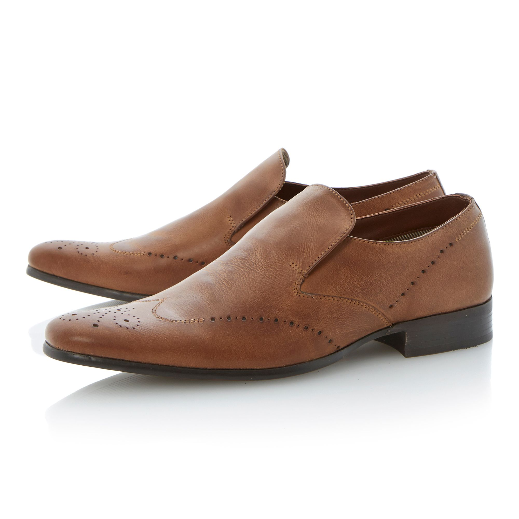 Ayre elasticated brogue detail loafers